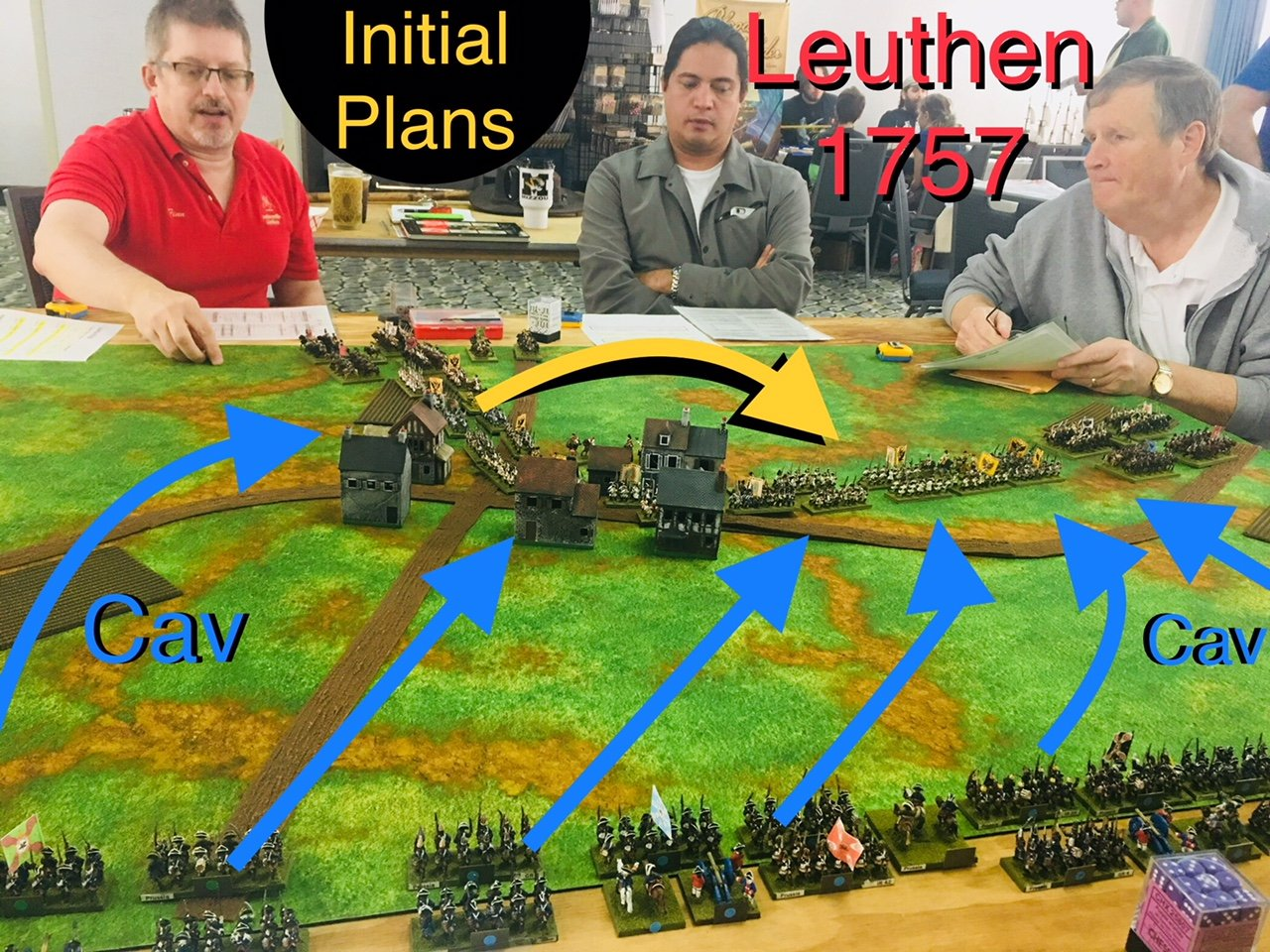 Initial Historical Army Setup and Opposing Plans